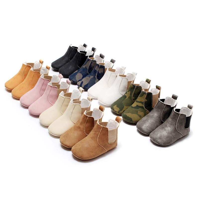 e3ca09a8efe Toddler Baby Soft Sole Crib Shoes Kids Boys Girls Shoes Ankle Boots ...