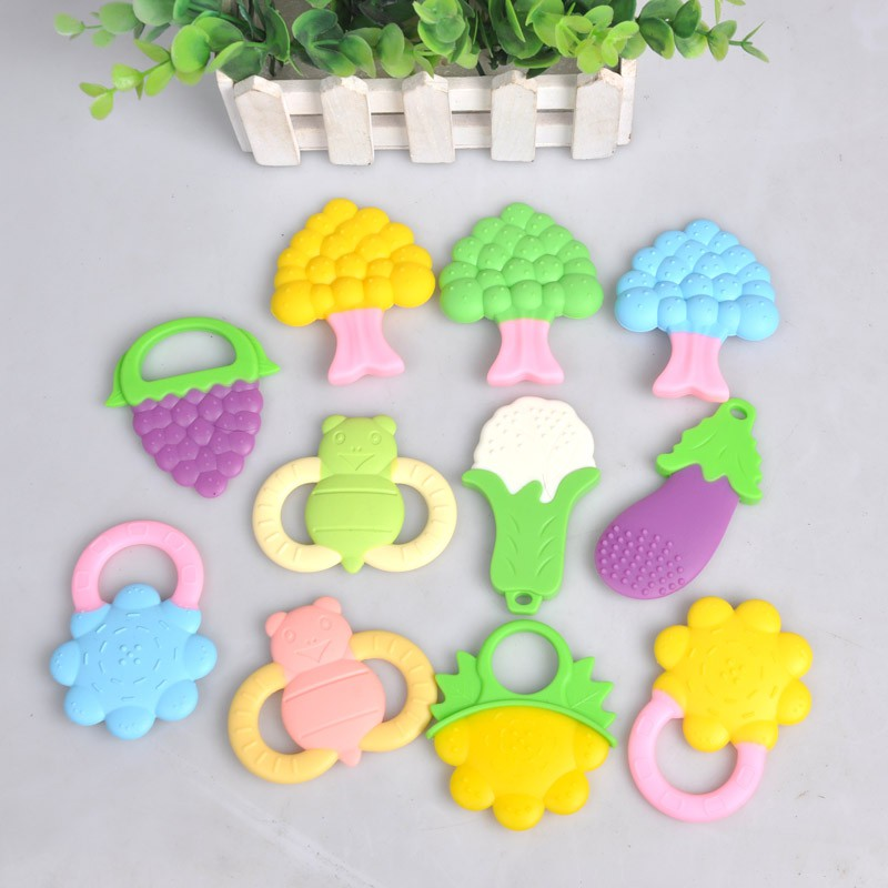 Baby-Teether-Silicone-Mitts-Teething-Mitten-Glove-Candy-Wrapper-Sound-Toy-Gifts thumbnail 24