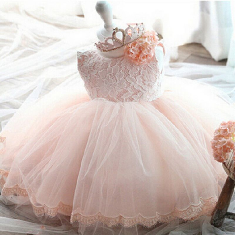 Baby-Kids-Formal-Lace-Princess-Bridesmaid-Floral-Dress-Wedding-Party-Dress-0-6-Y