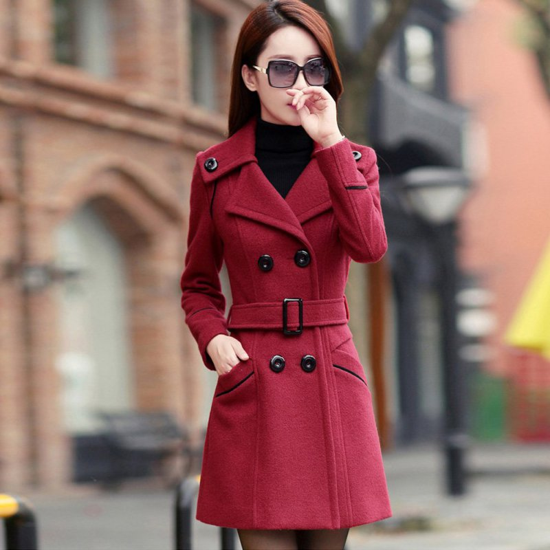 Women-Winter-Double-Breasted-Warm-Long-Coat-Jacket-Slim-Cardigan-Trench-Overcoat