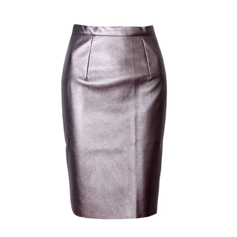 skirts pu leather high waist slim bodycon