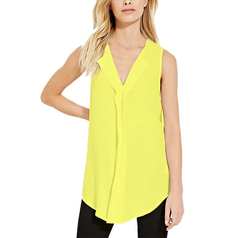Women plus size vest top sleeveless summer t shirt blouse for Plus size summer shirts