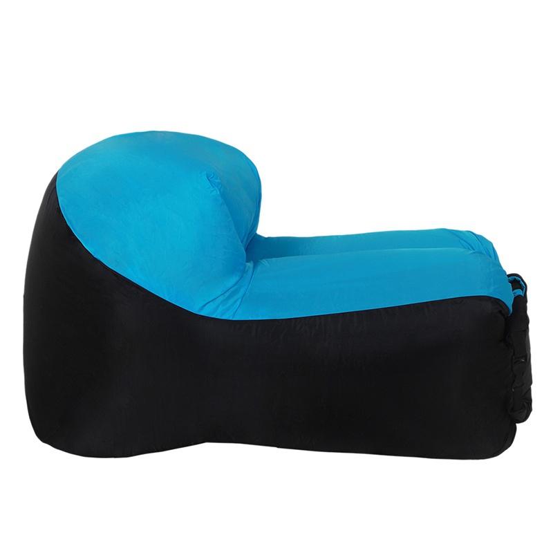 Inflatable-Air-Sofa-Bed-Lazy-Sleeping-Camping-Bag-Beach-Hangout-Couch-Windbed-US thumbnail 9