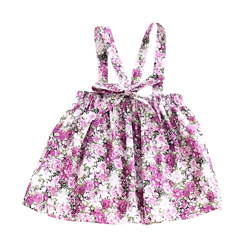 Newborn-Baby-Girls-Floral-Suspender-Skirt-Tutu-Dress-Kids-Princess-Cotton-Romper thumbnail 12