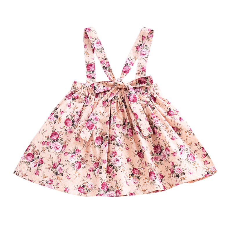 Newborn-Baby-Girls-Floral-Suspender-Skirt-Tutu-Dress-Kids-Princess-Cotton-Romper thumbnail 14