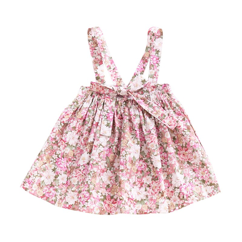 Newborn-Baby-Girls-Floral-Suspender-Skirt-Tutu-Dress-Kids-Princess-Cotton-Romper thumbnail 16