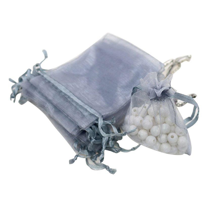 100-PCS-Pochettes-De-Noce-Bijoux-En-Organza-Mini-Cadeau-Sacs-De-Stockage-Cordon miniature 15