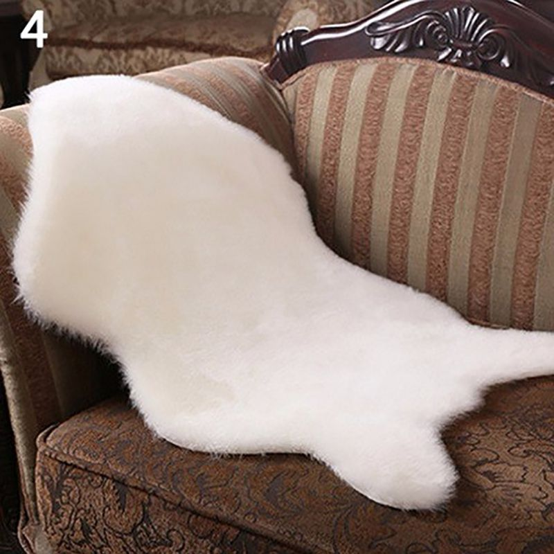 Soft Faux Fur Fluffy Rug Mat Sofa Floor Home Bedroom