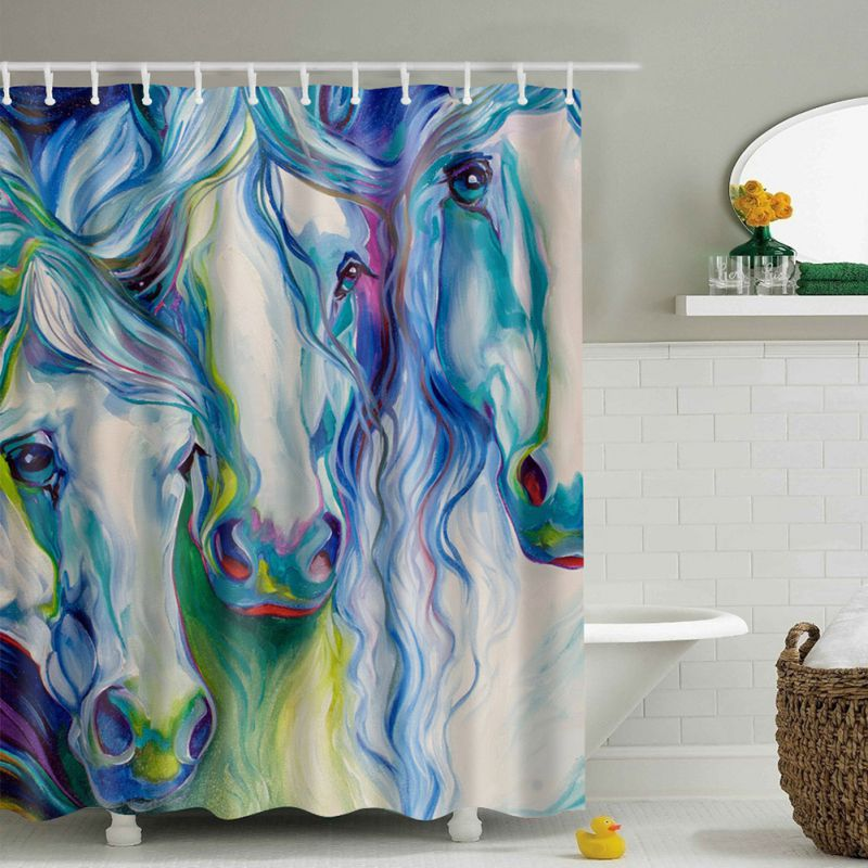 Fabric Waterproof Bath Bathroom Shower Curtain Animals