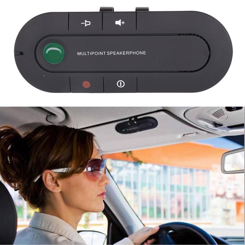 Auto Wireless Bluetooth Hand-Free Car Kit Speakerphone Speak