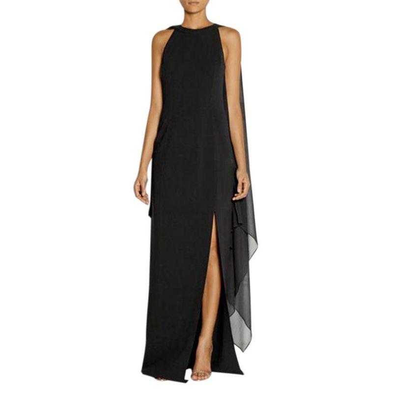 Women Lady Chiffon Boho Evening Dress Formal Party Ball Gown Long ...
