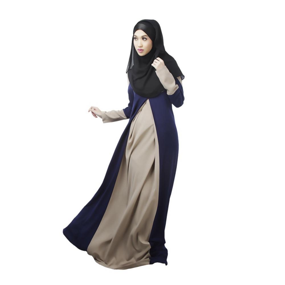 Ihram Kids For Sale Dubai: Women Muslim Cocktail Long Sleeve Maxi Dress Kaftan Abaya