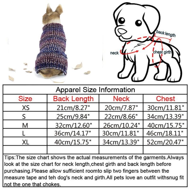 Puppy-Pet-Dog-Cat-Hoodie-Winter-Warm-Sweater-Coat-Costume-Apparel-Clothes-New thumbnail 31