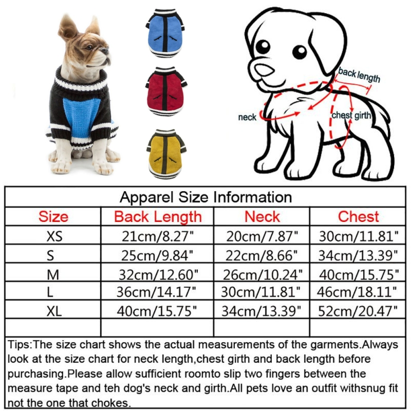 Puppy-Pet-Dog-Cat-Hoodie-Winter-Warm-Sweater-Coat-Costume-Apparel-Clothes-New thumbnail 23