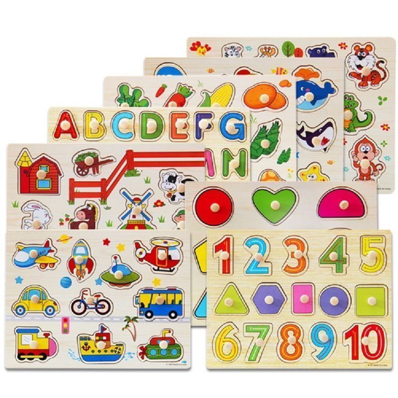 Imported From Abroad Wooden Early Education Baby English Learning Abc Alphabet Letter Cards Cognitive Animal Puzzle Toys Home