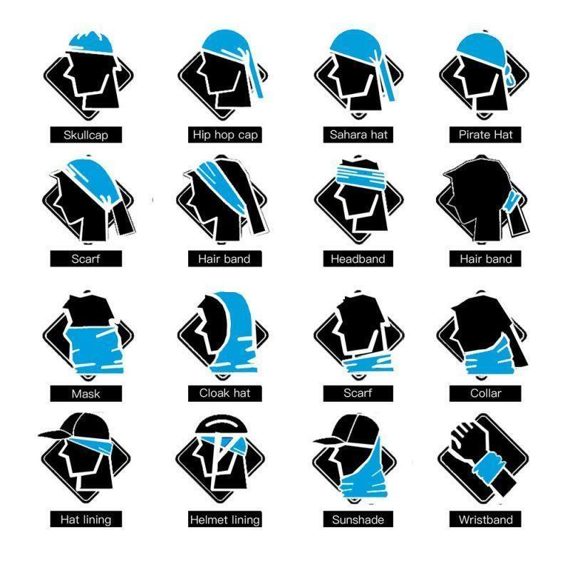 Biker-Bandana-Echarpe-Tube-Masque-Head-Neck-Gaiter-Snood-coiffure-Warmer-Wrap miniature 4