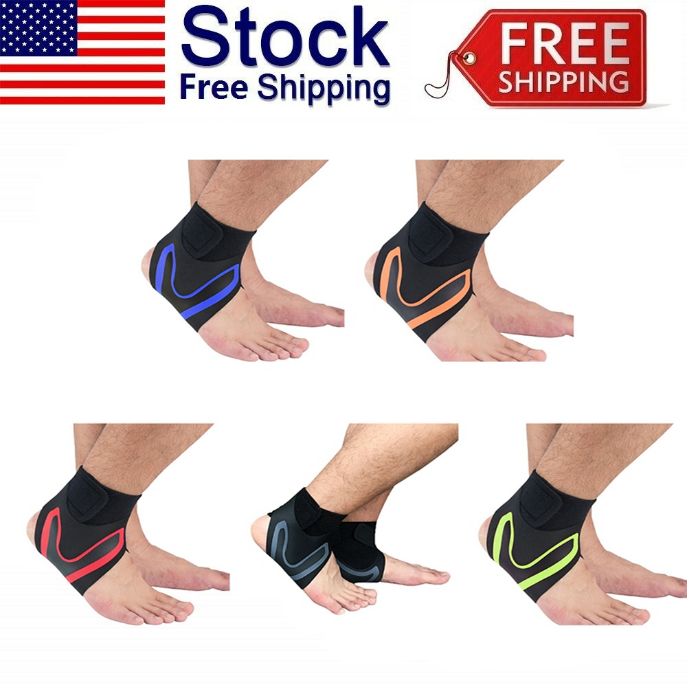 Mens Ankle Brace Foot For Sprain Support Bandage Achilles St