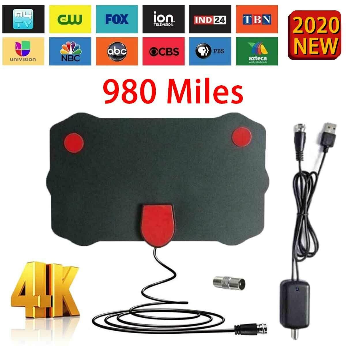 980 Miles Clear Indoor Digital TV HDTV Antenna UHF/VHF/1080p