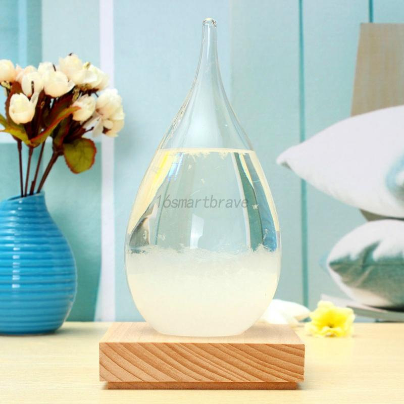 Water-Drop-Shaped-Weather-Forecast-Storms-Crystal-Glass-Bottle-Home-Decor