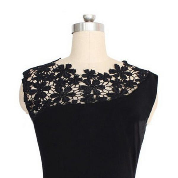57073028b1 UK Elegant Womens Sleeveless Lace Crochet Party Cocktail Bodycon ...