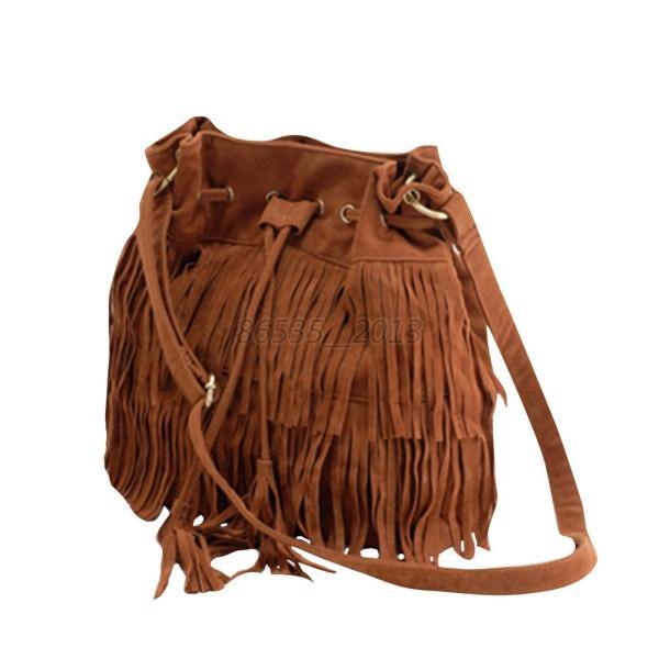 Women-Tassle-Suede-Bag-Fringe-Shoulder-Message-Fringe-HOBO-Handbag-Purse-USA