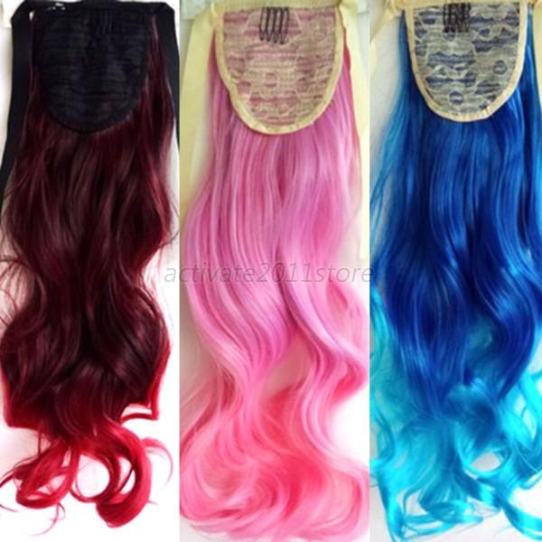 New Women Girls Full Head Clip in Long Synthetic Hair Extensions Curly Wavy  Hair  bb1835f0b5