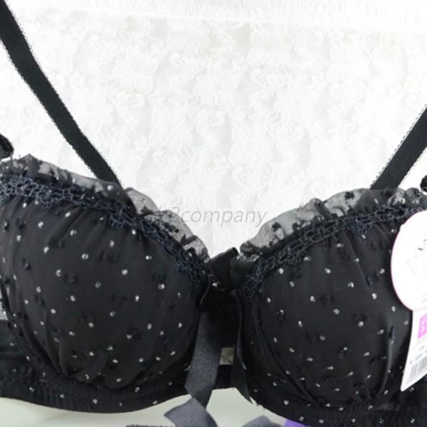 Cute-Women-Girls-Push-Up-Bras-bow-knot-Lace-Underwear-Soft-Cotton-Brassiere-hot