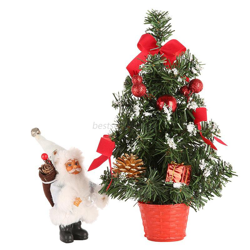 Mini Christmas Tree Decor Desk Table Festival Party
