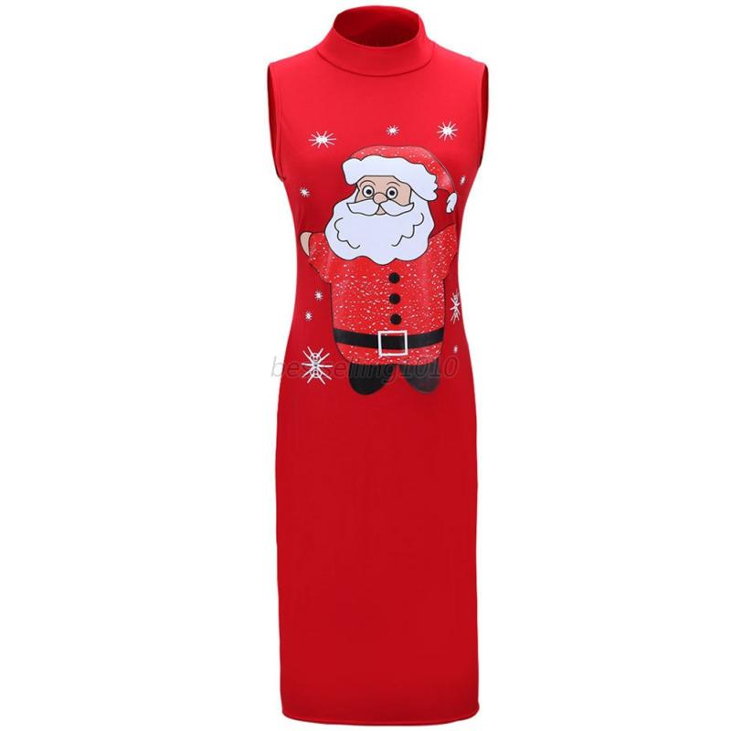 AU-Women-Christmas-Santa-Claus-Dress-Sleeveless-Ladies-Slim-Cocktail-Long-Dress