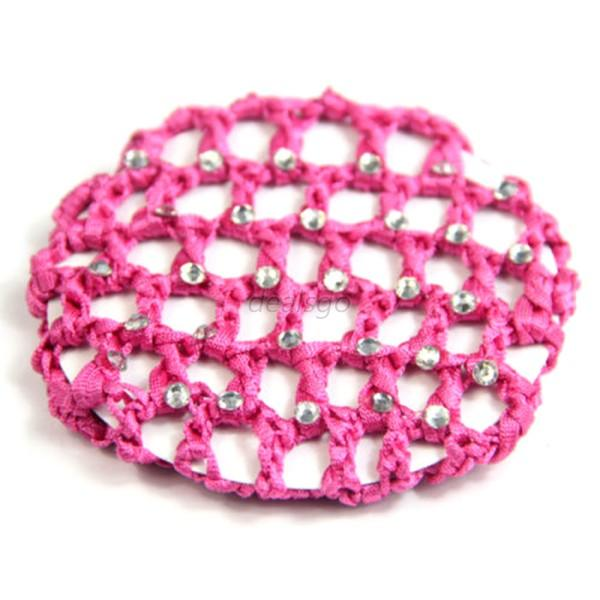 Kids Baby Bun Cover Snood Hair Net Ballet Dance Elastic Crochet