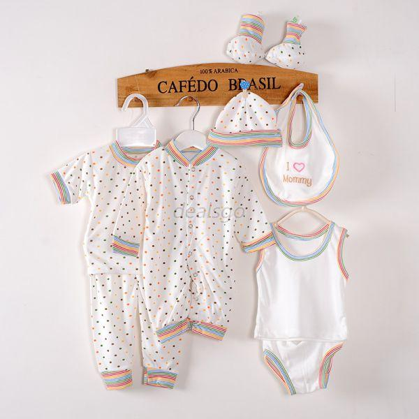 8pcs Newborn Infant Kids Baby Boy T