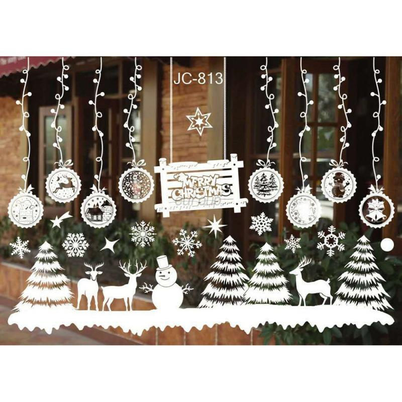 Christmas-Wall-Stickers-Decor-Snowflake-Frozen-Decals-Window-Art-Xmas-Ornament