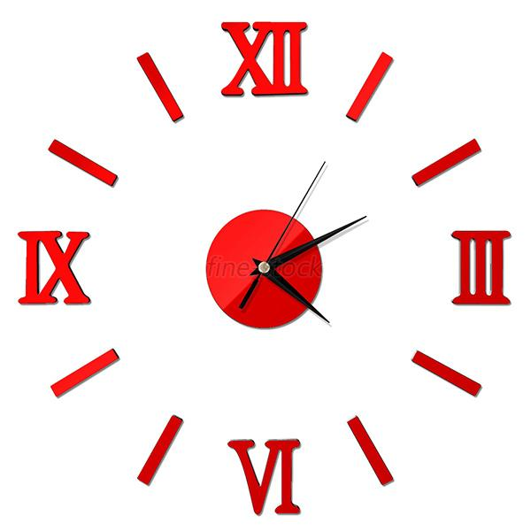 Fancy-DIY-3D-Mirror-Surface-Wall-Sticker-Clock-Number-Large-Home-Room-Decor-UK thumbnail 16
