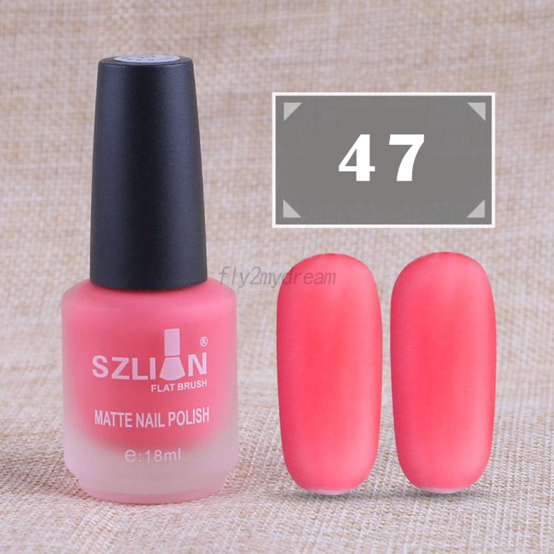18ml Matte Nail Polish UV Gel Nature Non-toxic Manicure DIY Nail Art ...