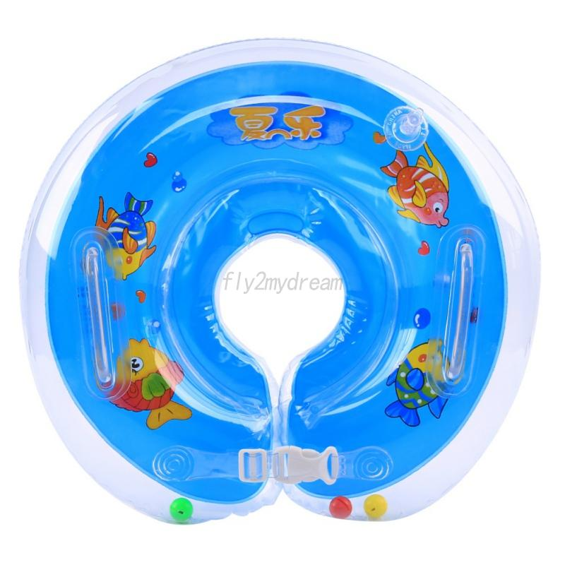 Baby Infant Bath Swimming Neck Float Inflatable Ring Tube Safety ...
