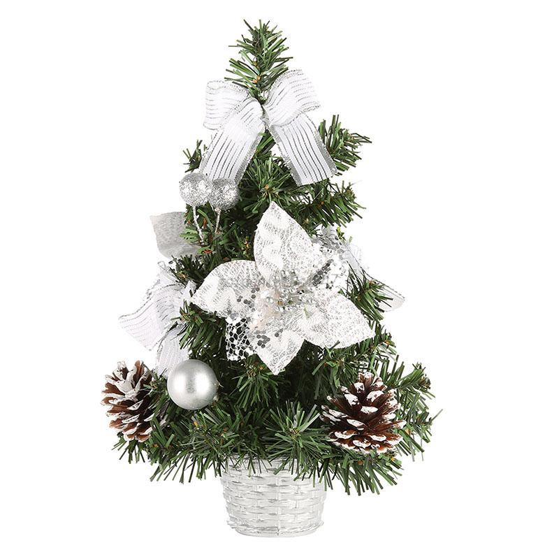 Small Office Christmas Party Ideas: Mini Christmas Tree Ornament Desk Table Festival Holiday