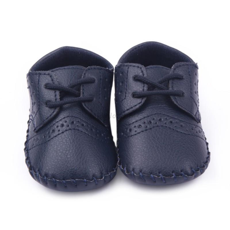 3fe0a68df4f UK Infant Baby Kids PU Leather Shoes Boy Girl Soft Sole Crib ...
