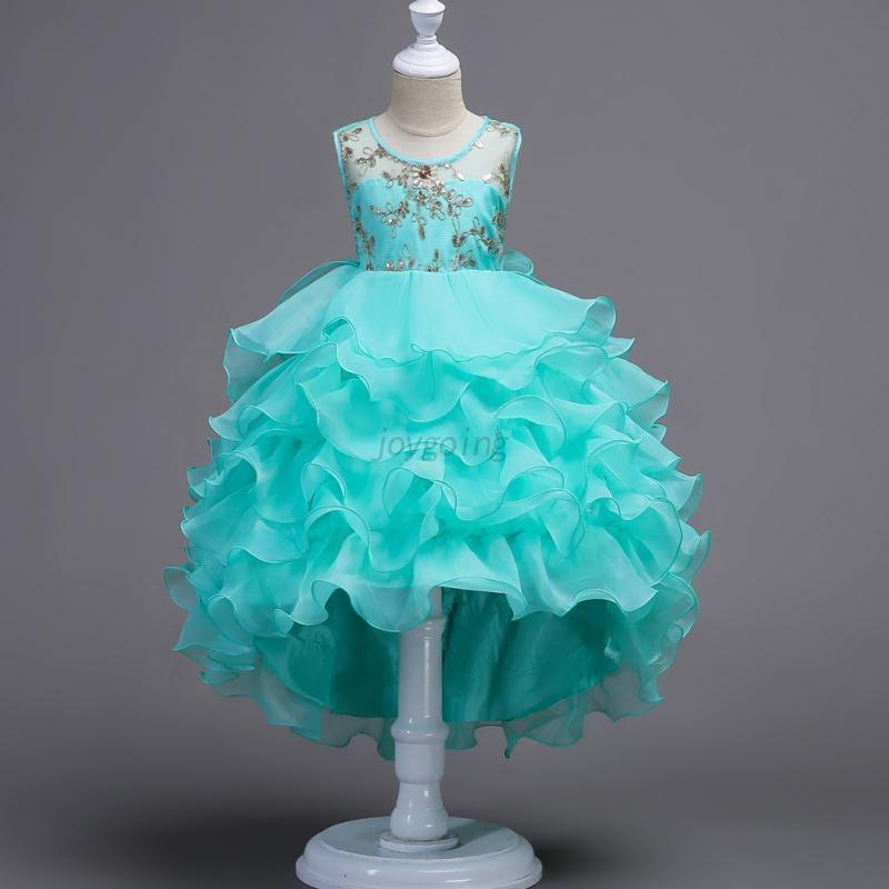 Kids-Girl-Flower-Tutu-Dress-Princess-Birthday-Bridesmaid-Pageant-Formal-Dress-AU