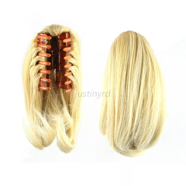 Hair Extension Clip In Fake Ponytail Tail Claw On Hair Piece Short