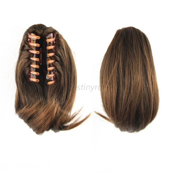 Hair extension clip in fake ponytail tail claw on hair piece short hair extension clip in fake ponytail tail claw pmusecretfo Gallery