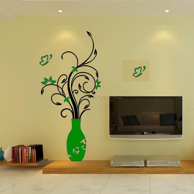 US Home Room DIY Wall Sticker Decal Mural Decor 3D Flower Removable ...