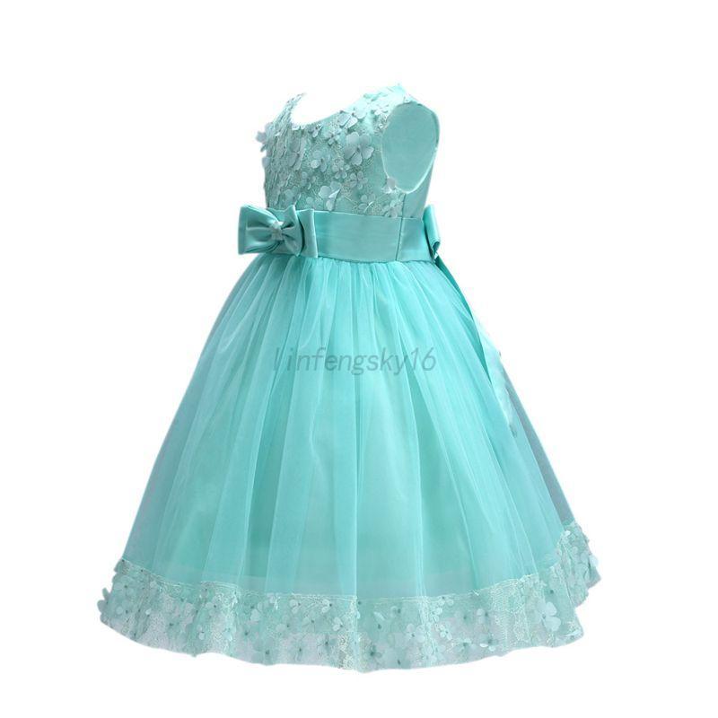 Flower Girl Princess Dress Kid Party Wedding Pageant Formal Tutu ...