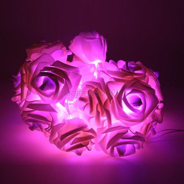Xmas-String-Lights-Rose-Flower-Fairy-20-LED-Indoor-Party-Light-Bedroom-Decor-UK