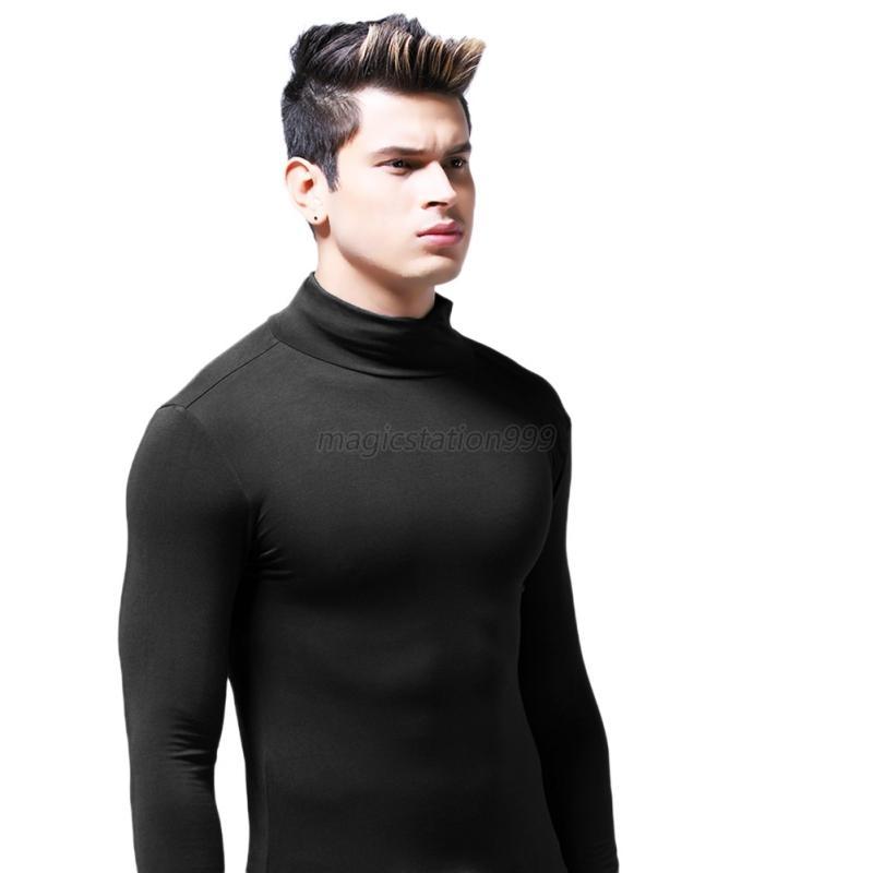 us men turtleneck thermal under shirts base layer top long