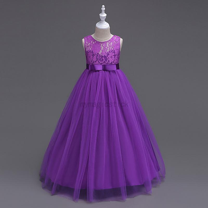US Formal Kids Flower Girl Dress Princess Bridesmaid Party Wedding ...