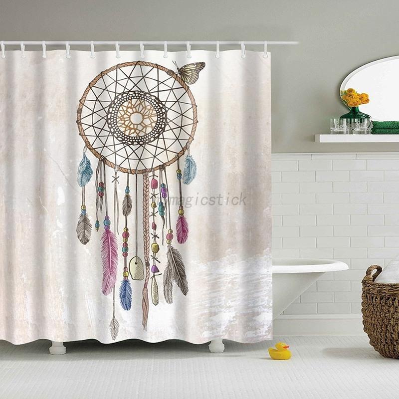 Various Patterns Bathroom Shower Curtain Waterproof Panel Fabric ...