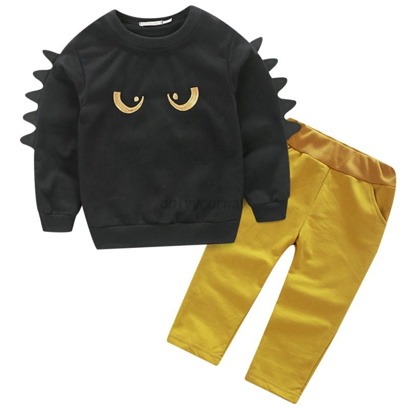 Kid-Baby-Boys-Long-Sleeve-Tops-Pants-Set-Casual-Holiday-Shirt-Outfits-Clothes-AU
