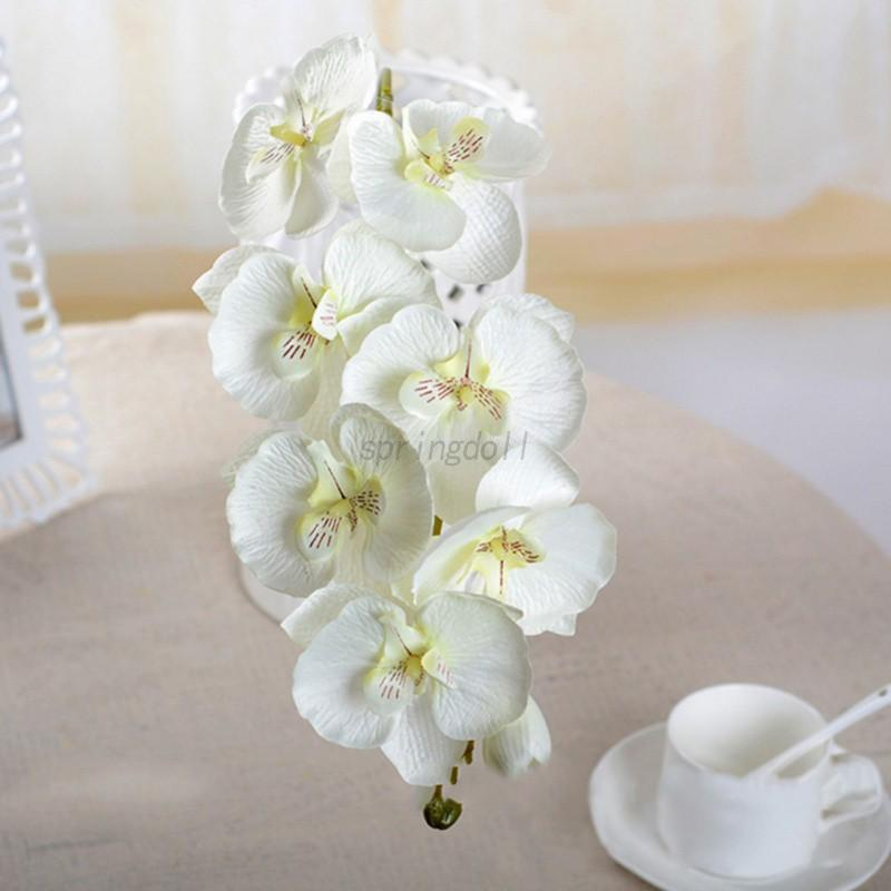 Artificial Butterfly Orchid Silk Flower Bouquet Phalaenopsis Rose ...