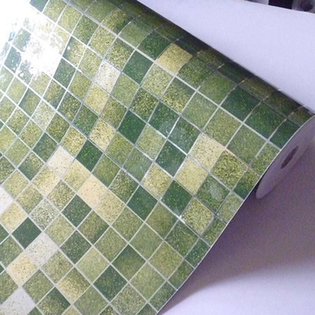 Waterproof Self-adhesive Mosaic Wall Paper Sticker Tile ...