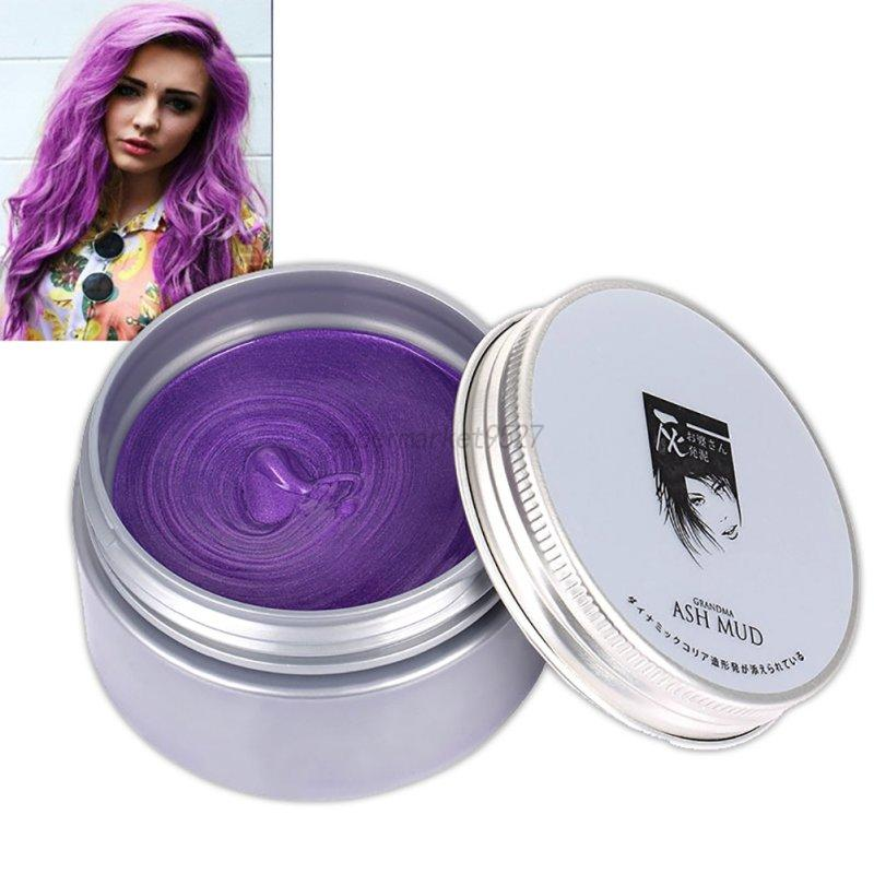 Multicolors Unisex Temporary Modeling Fashion Diy Hair Color Wax Mud